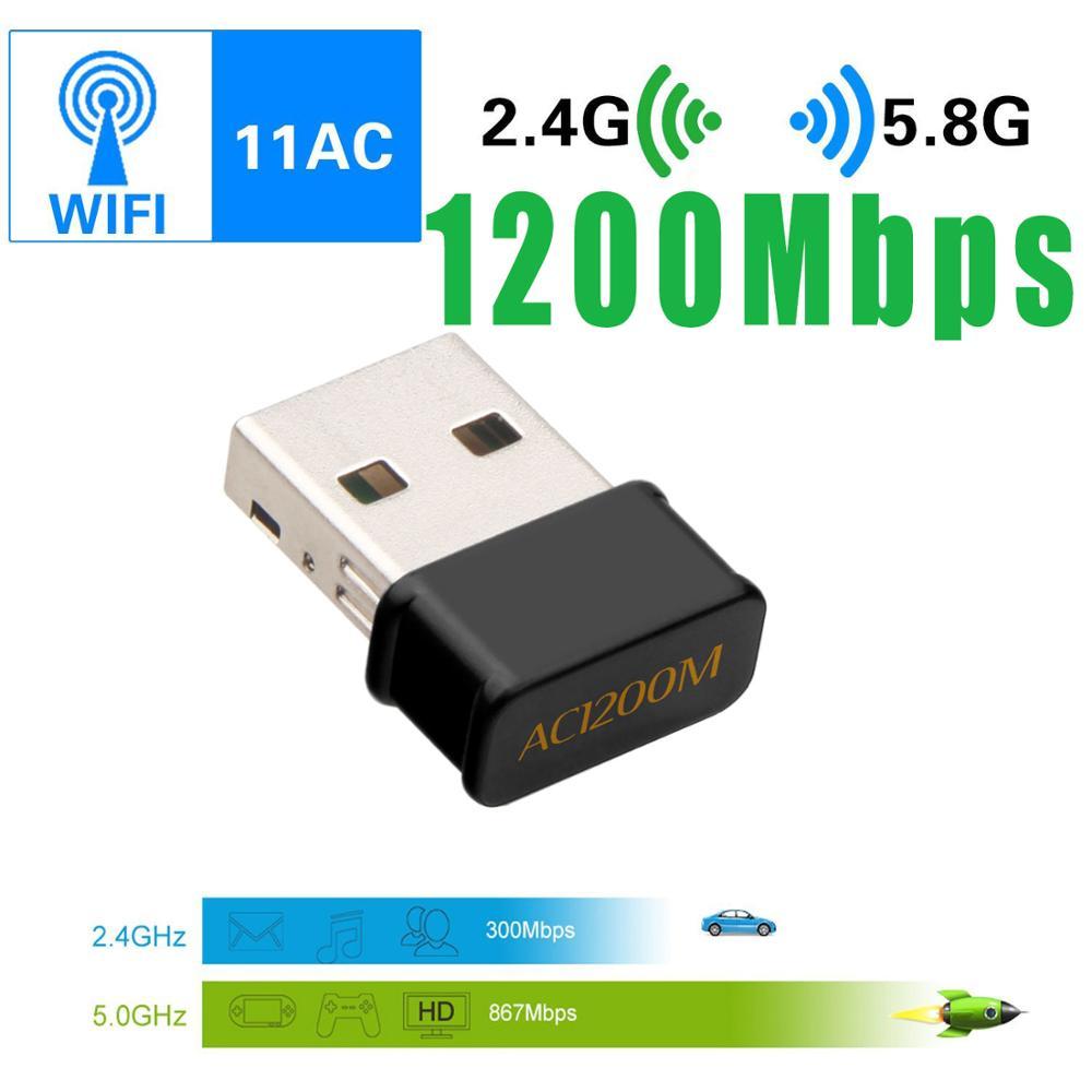 1200Mbps USB Wifi adaptador Lan USB Ethernet 2,4G/5G banda Dual USB tarjeta de red Wifi Dongle 802.11n/g/a/ac