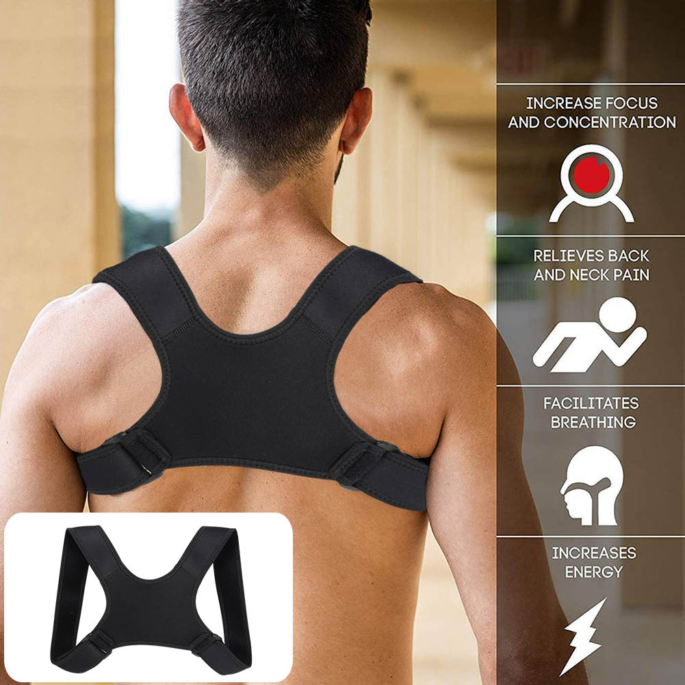 Corrector de postura fractura soporte de hombro la clavícula de la columna Lumbar corrección soporte, Cinturón de sujeción cuerpo de la correa del Corrector Brace