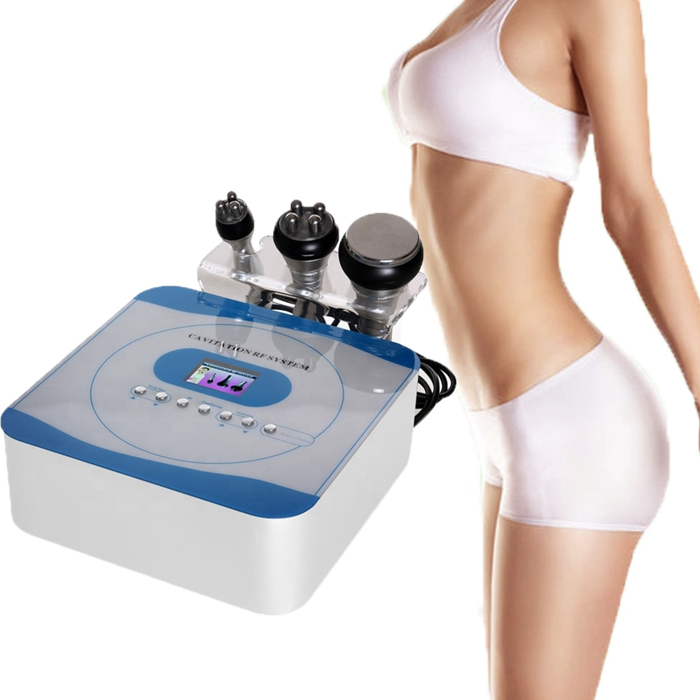 3 in 1 Slimming RF Machine 40K Cavitation Weight Loss Body Face Spa Salon Negative Pressure Shaping Skin Tighten Face Lifting