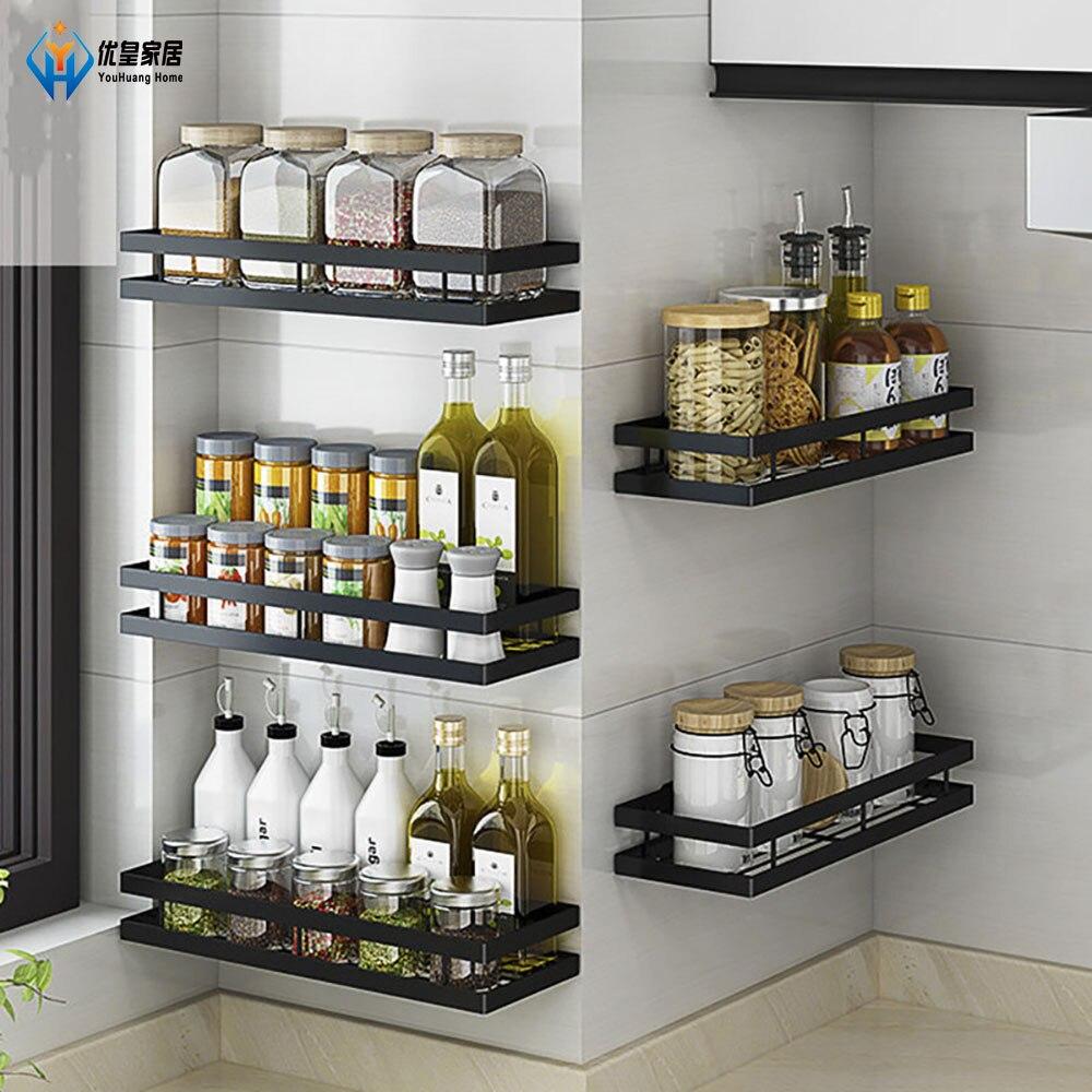 رف تخزين حائط برطمان توابل ، منظم مطبخ ، رف خزانة ، أدوات مطبخ ، لوازم