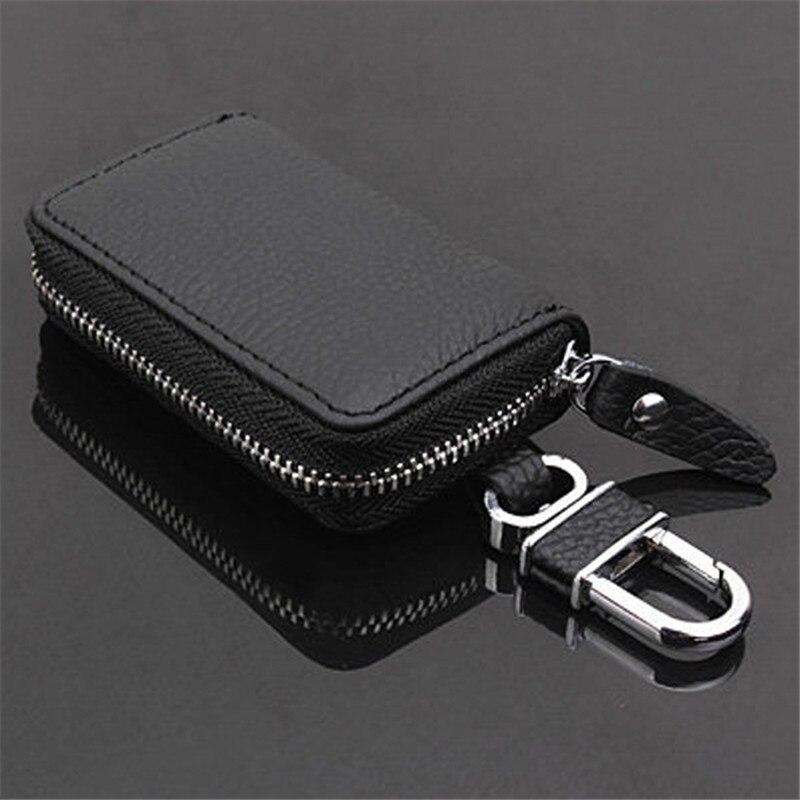 PU Leather Car Key Wallets Men Key Holder Housekeeper Keys Organizer Women Keychain Covers Zipper Ke