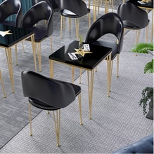 Tea shop bar bar bar high bar table simple home narrow wall table Nordic iron bar table and chair combination