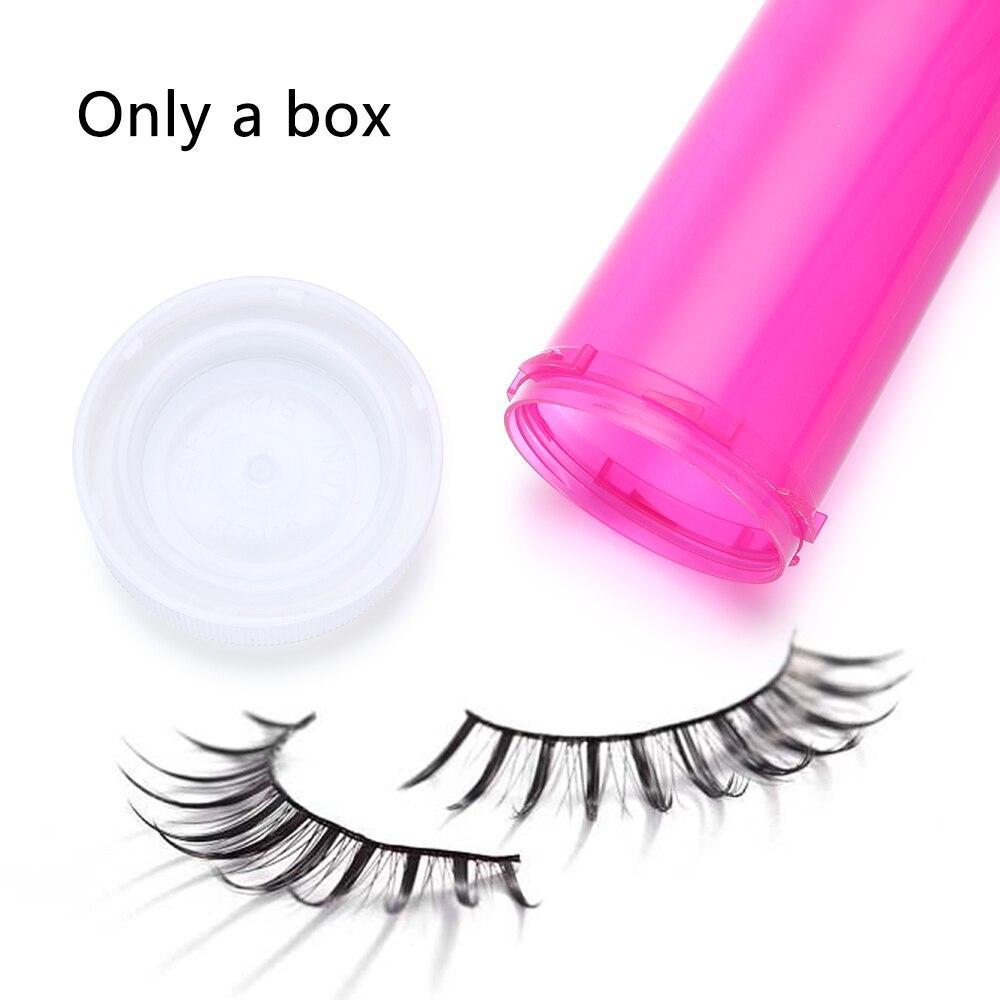1Pc 2020 Pill Shape Eyelash Packaging Box Fake 3D Mink eyelashes Boxes Lash Stripe Empty Case Lashes Tray Women Eye Makeup Tools