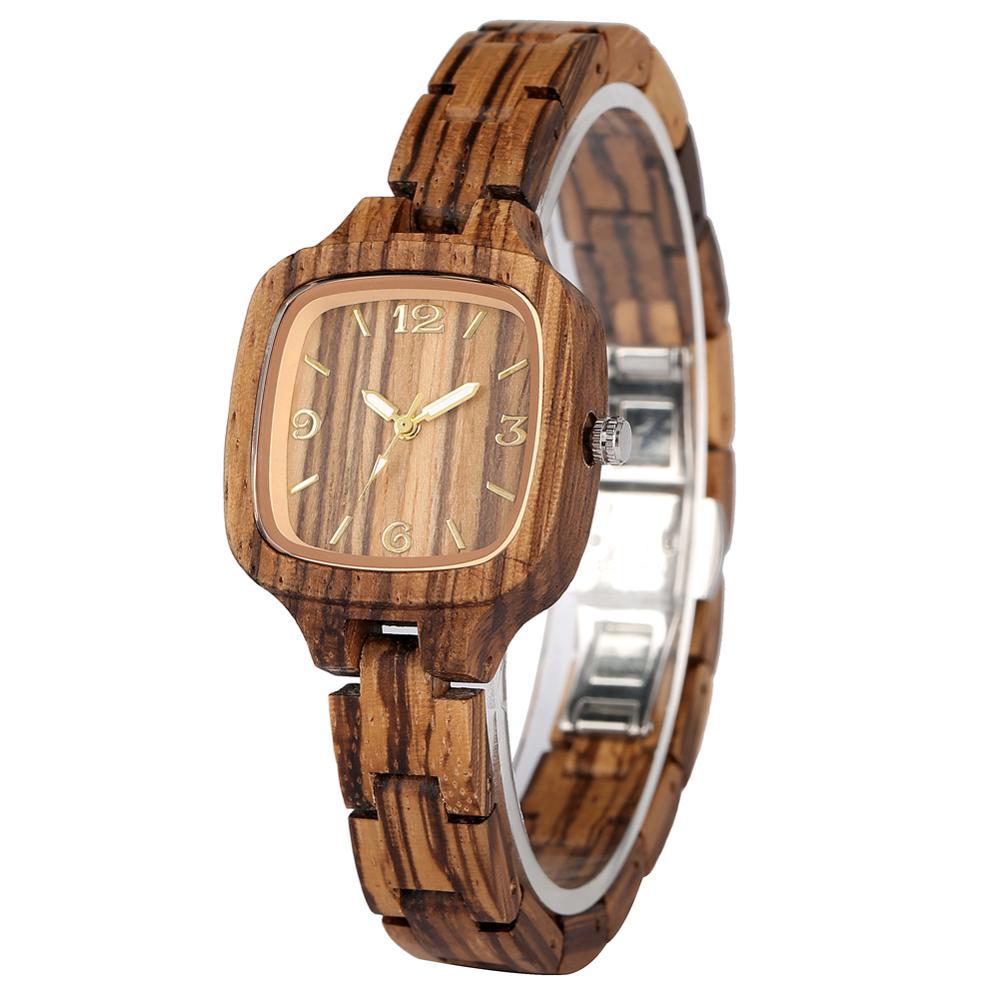 Аналоговые деревянные часы женские Полностью деревянные женские наручные часы креативные женские часы наручные часы relogios femininos de pulso