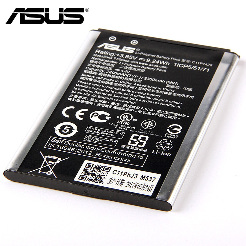 "Original ASUS ZE500KL Phone Battery For ASUS ZenFone 2 Laser 5"" Z00ED ZE500KL ZE500KG 2400mAh"