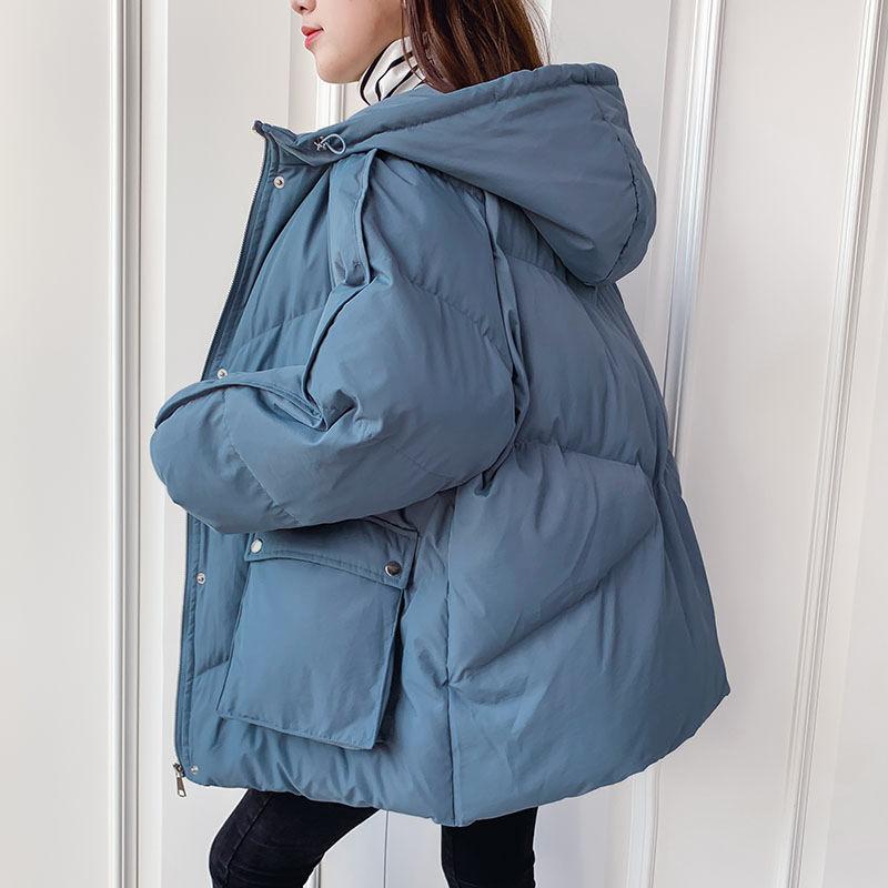 2021 зимняя куртка, женские парки, теплая пуховая хлопковая куртка с капюшоном, парки, женская повседневная свободная верхняя одежда, корейск...