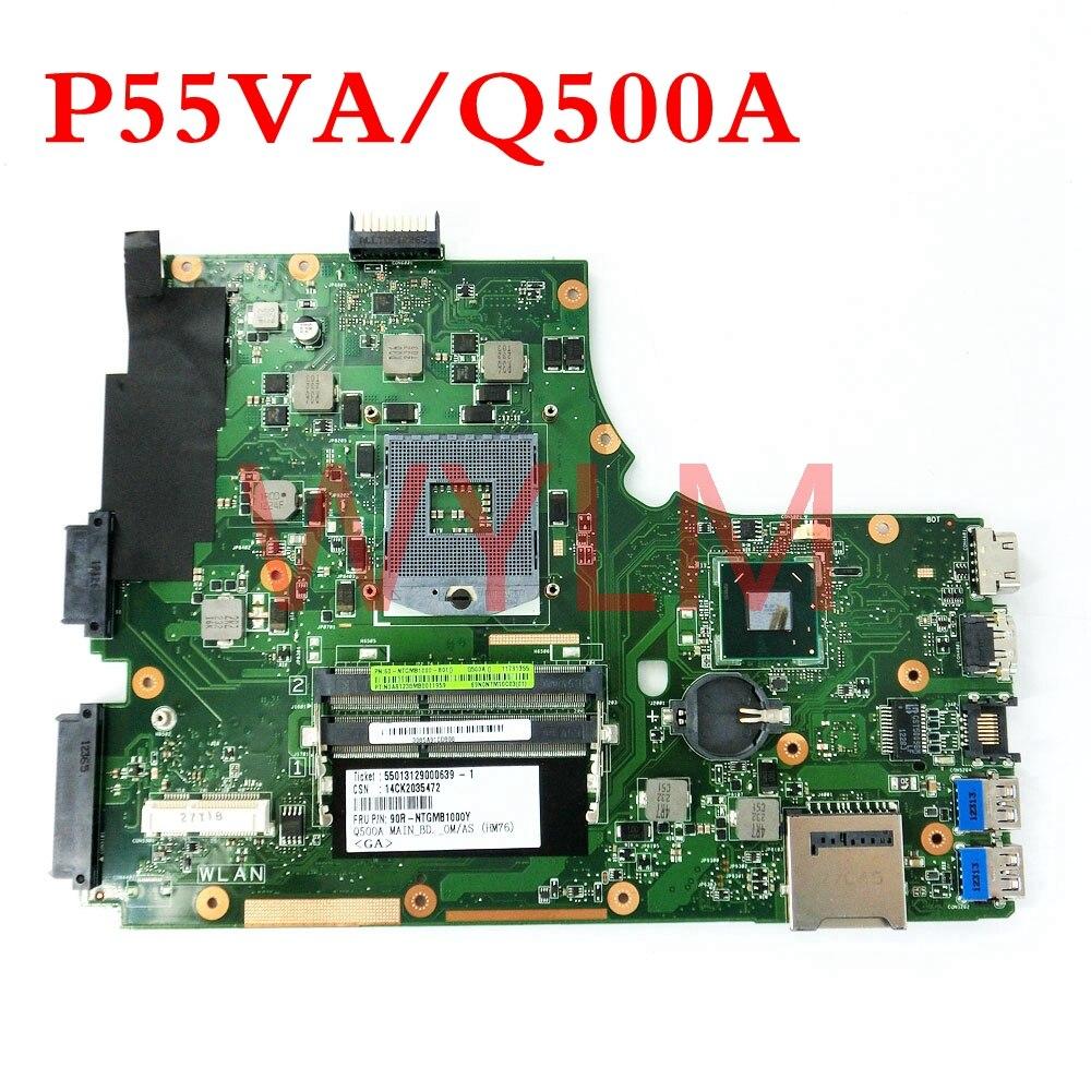Q500A/P55VA DDR3 اللوحة REV2.1 ل ASUS Q500A P55V P55VA اللوحة المحمول 60-NTGMB1000-B01 اختبار العامل