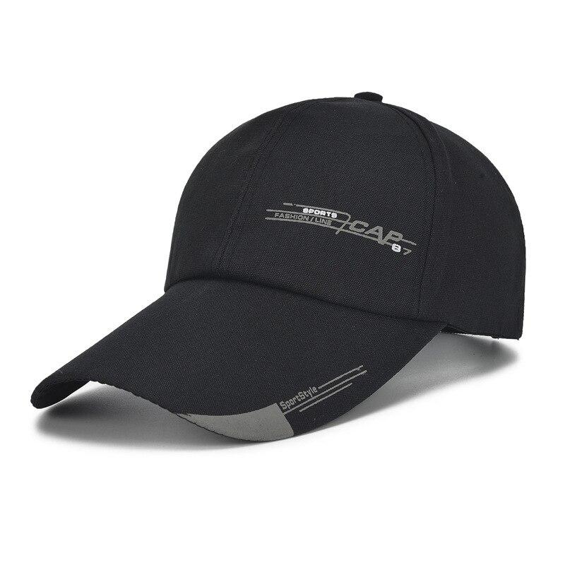 Длинная однотонная шапка унисекс с Биллом, регулируемая хлопковая бейсболка, кепки с солнцезащитным козырьком, холщовая шапка, кепка для ак...