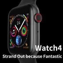 Original W34 Bluetooth Smart Watch Series 4 Blood Pressure Health Smart Watch 2019 Men's Smartwatch for Apple Iphone Android
