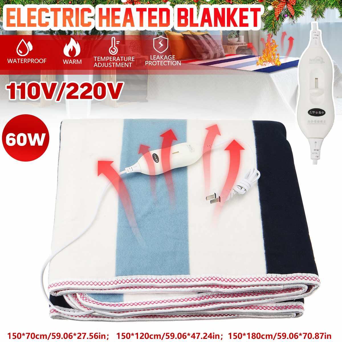 Manta eléctrica de doble Control, Manta calefactora de 220 V, 2 cuerpos,...