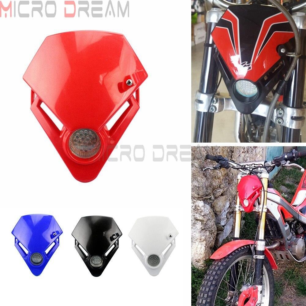 Faro LED para moto de prueba, doble deporte, Enduro, para Kawasaki, Yamaha,...