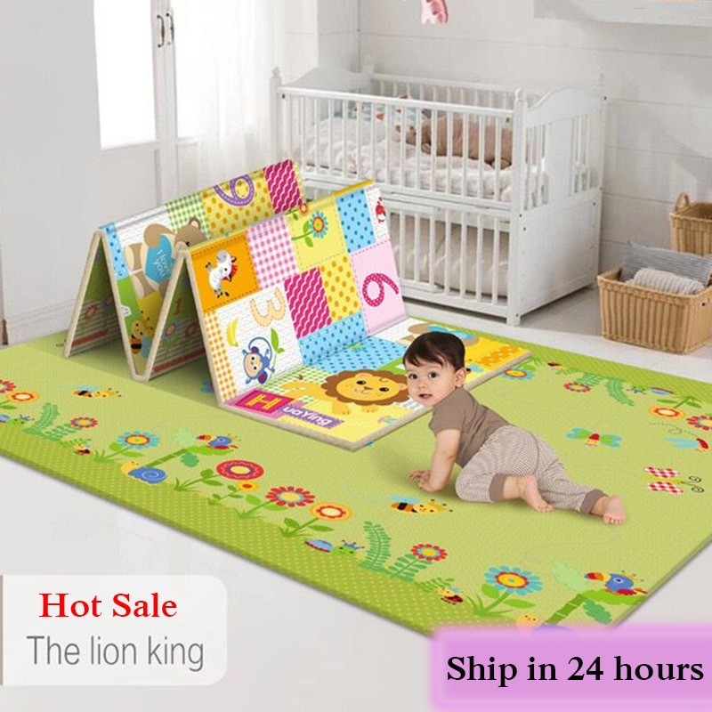 baby developing mat for newborn non toxic soft xpe foam baby climbing pad foldable activity gym for children playground kids rug Non-toxic Foldable Cartoon Baby Play Mat Xpe Puzzle Children's Mat Baby Climbing Pad Kids Rug Baby Games Mats Toys for Children