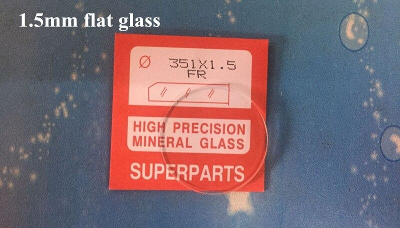 Reloj de alta precisión de 1,5mm de espesor cristal plano redondo Mineral de vidrio 16,1 ~ 40mm de tamaño