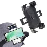 baby stroller accessories mobile phone holder rack universal 360 rotatable pram cart bicycle phone holder for iphone gps device