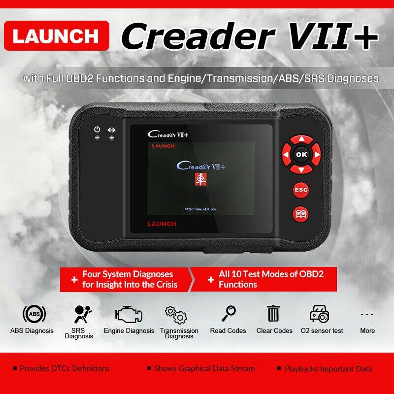 Lanzamiento de X431 Creader vii + OBD2 escáner ENG ABS Airbag en escáner lector de código de coche OBDII herramienta de diagnóstico escáner automotriz 7 +