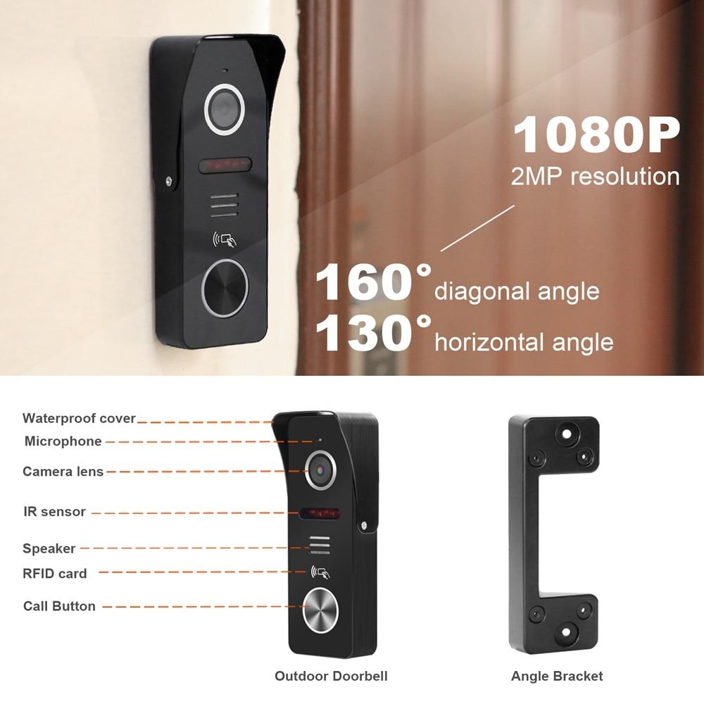 TUYA Smart WIFI Video Intercom for Home Wireless IP Door Phone Intercom System  Touch Screen Monitor 1080P Video  Doorbell RFID enlarge