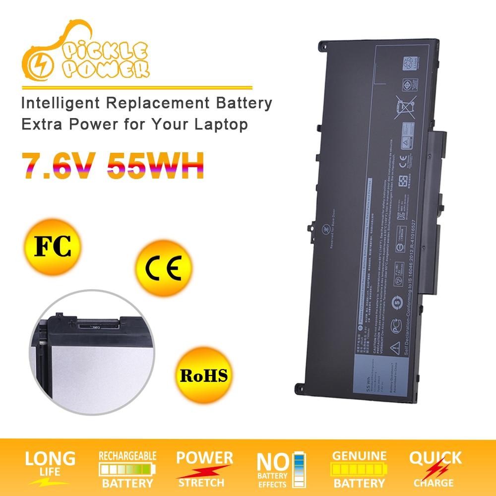 J60J5 Laptop Battery for Dell Latitude E7270 E7470 Series R1V85 451-BBSX 451-BBSY 451-BBSU MC34Y 242WD Notebook 7.6V 55Wh