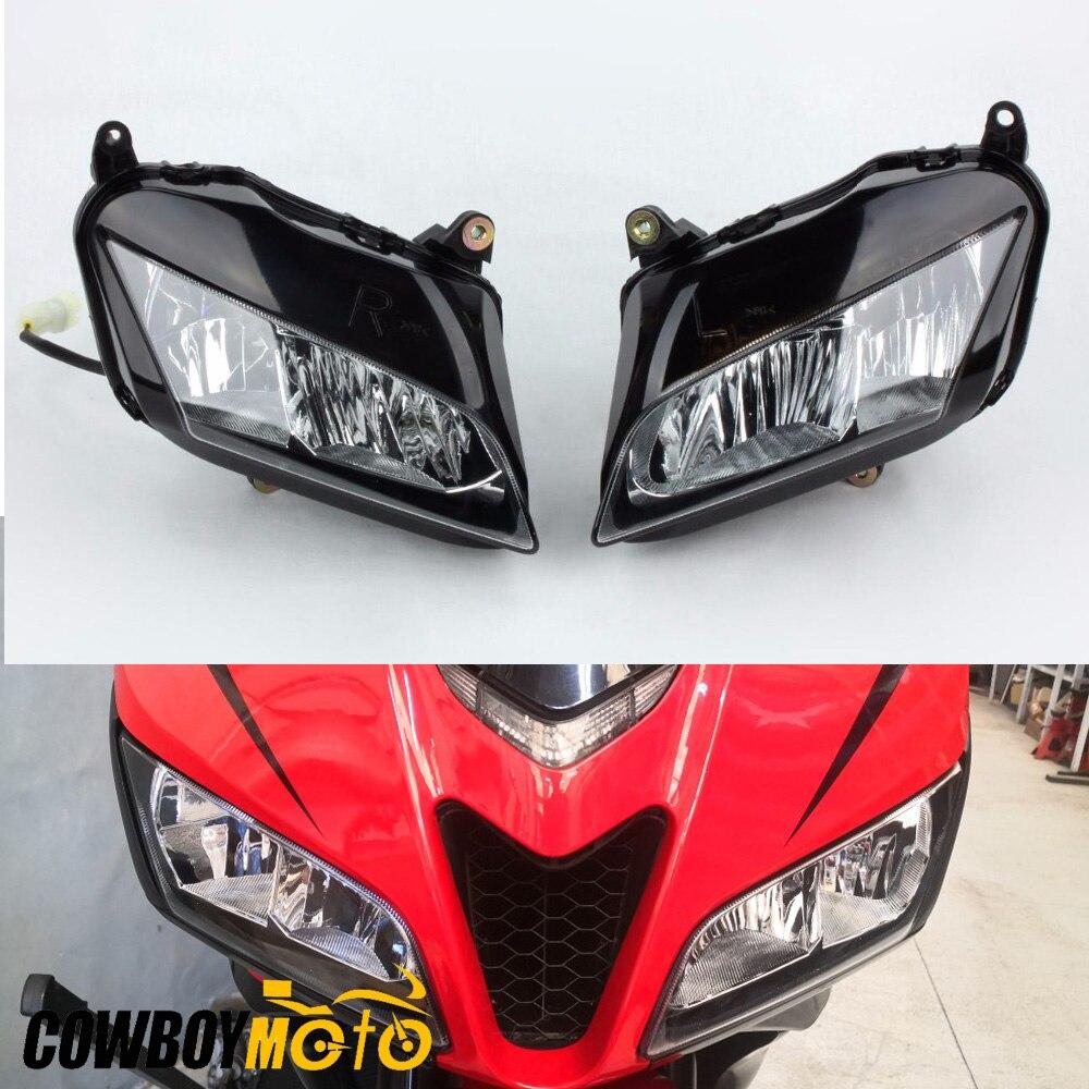 For Honda CBR600RR 2007 2008 2009 2010 2011 2012 Smoke Clear Lens Front Headlight Head Light Headlamp Assembly Housing Kit