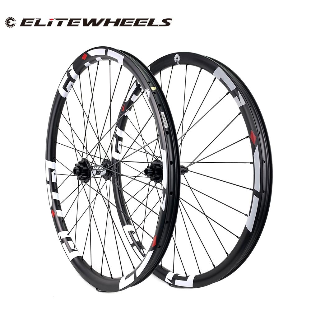 29er 33mm largeur 29mm hauteur sans crochet vtt carbone roues 29 pouces carbone VTT roues avec moyeu vtt DT350