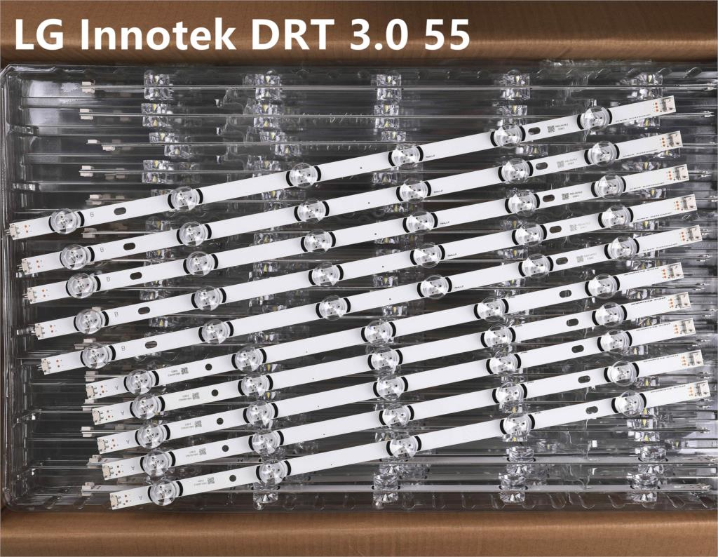 10 قطعة LED قطاع ل LG Innotek DRT 3.0 55