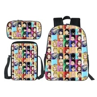japan anime my hero academia backpacks teen school bags boy girl bookbag students cosplay anime cartoon pencil case shoulder bag
