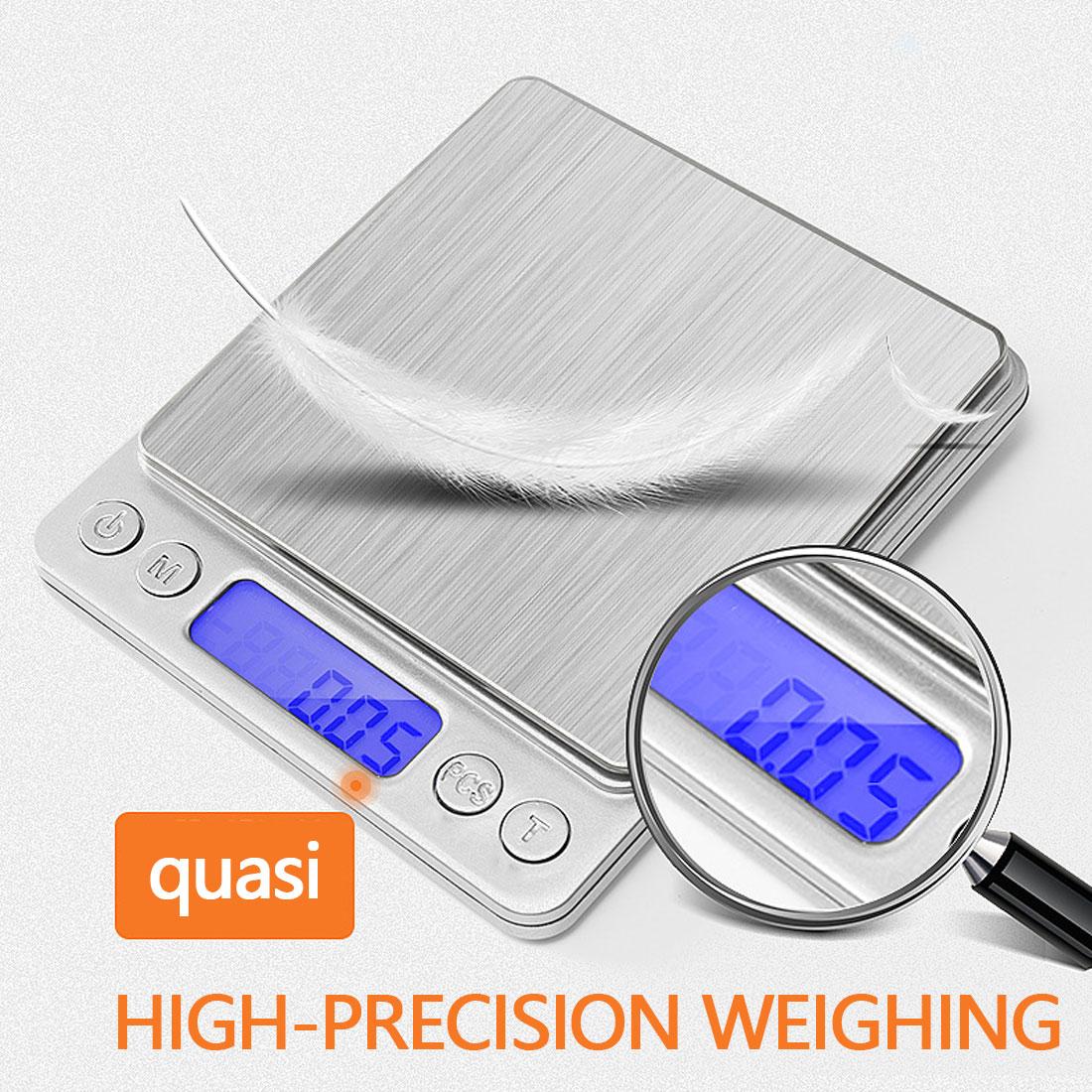 Бытовые кухонные весы, электронные кухонные весы 3000 г/0,1 г для выпечки, измерительный прибор из проволоки из нержавеющей стали
