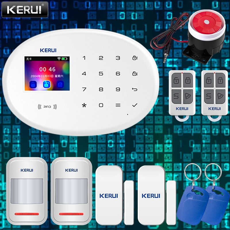 KERUI W20 Smart Home Alarm System 2.4G WIFI Wireless Network Connection GSM APP Fortification Color Screen Touch Keyboard Motion