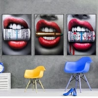 personality red lips beauty painting flaming lips inkjet posters decoration beer bar restaurant wall canvas art decor pictures