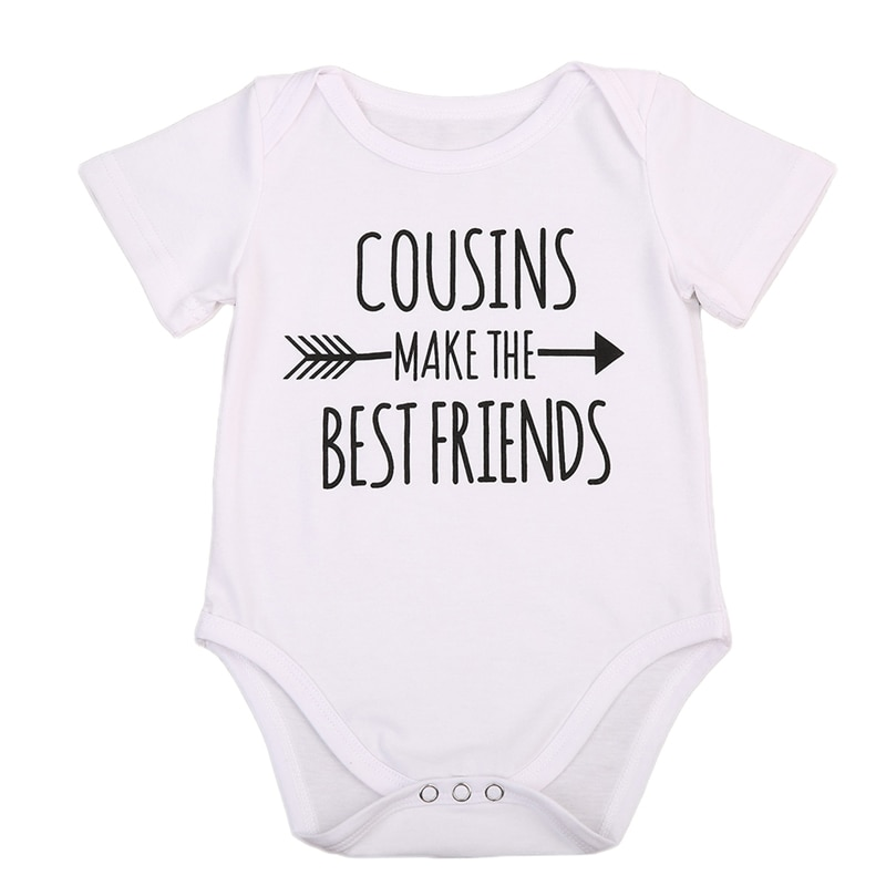 Pudcoco us stock bebê recém-nascido da menina do menino algodão 0-18 m macacão de manga curta carta impressão macacão roupas de verão