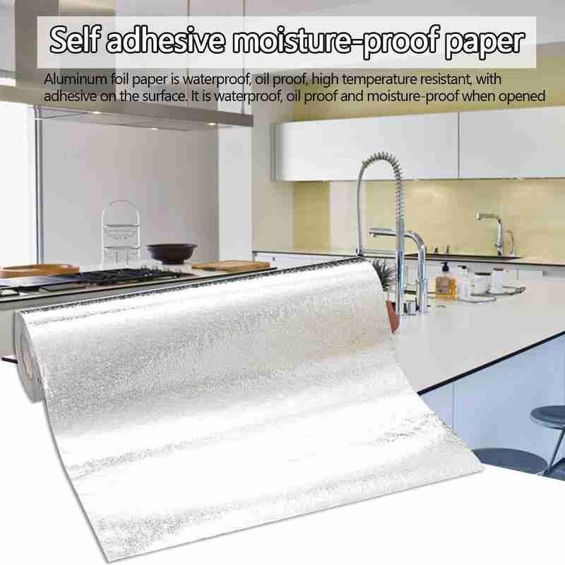 60x300cm cocina Back Splash papel tapiz pegatinas autoadhesivas papel de aluminio pegatinas a prueba de aceite impermeable cocina adhesivo de cocina