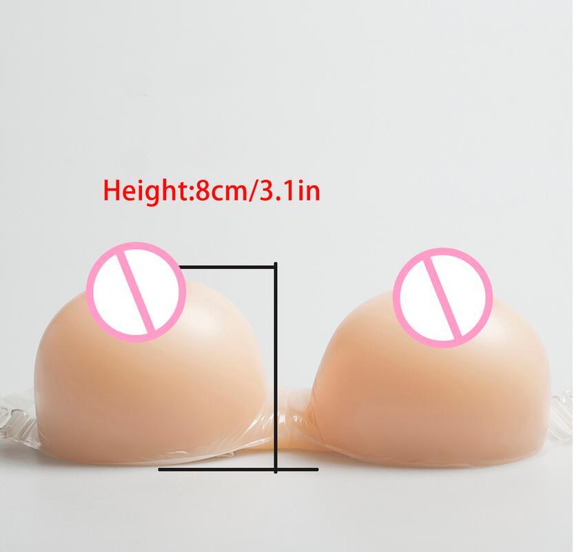 Gran oferta 2020 1200g formas de mama de silicona con correas de hombro para travesti Cosplay mastectomía transgénero potenciador de senos