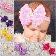 Bébé fille cheveux accessoires mignon filles nœud papillon perle Design bandeau serre-tête vêtements photographie accessoire fête cadeau 3-18M