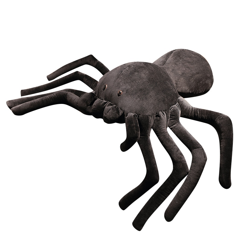 Giant Plush Spider Toy Big Size Cool Black Spider Pillow Stuffed Animal Soft Spider Cushion Appease Toy For Child Birthday Gifts