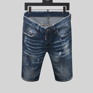Hole DSQ22021D jeans pants pants locomotive Italian luxury tight jeans motorcycle car pull JeansD2 jeans