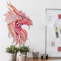 creative colorful animal dragon wall sticker kids nursery decals bedroom art mural decorative vinyl wallpaper self adhesive pvc