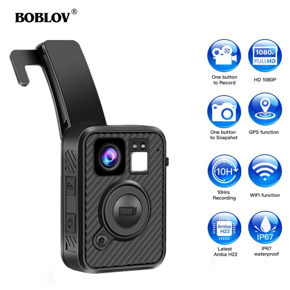Câmera da Polícia de Boblov Gravação de Visão Gps para Aplicação da Lei Corpo Usado Wifi 10h Noturna Dvr Gravador f1 64gb Cam