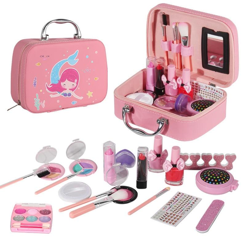 Doki Игрушка Детская косметика для девочек одежда игрушки костюм имитация игры принцесса Макияж игрушка пакет игровой домик 2021 Новинка
