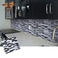 Мозаика самоклеящаяся плитка Backsplash настенная наклейка виниловая ванная кухня домашний декор DIY W4