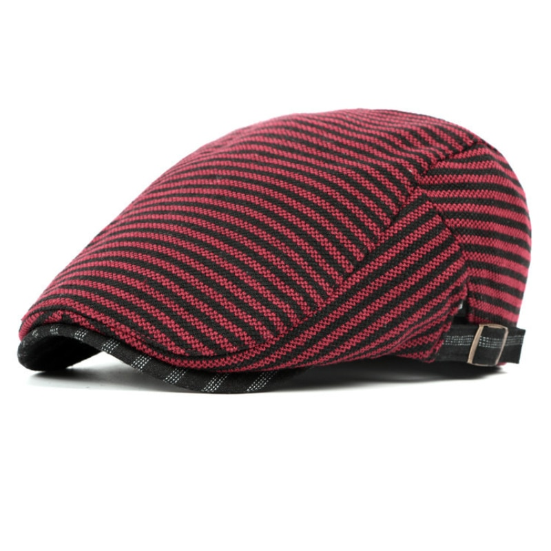 Cotton Beret Cap Black Spring Autumn Hat for Men Women Adjustable Ivy Newsboy Flat Cap High Quality Solid Knitted Hat Berets
