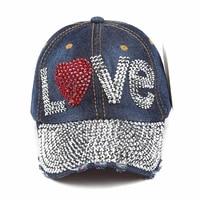 lvtzj new wholesale fashion vintage baseball cap good quality rhinestone cap love letter snapback hats hip hop cap for men women
