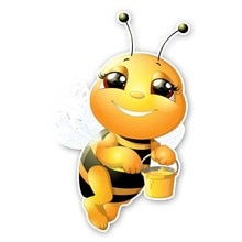 Cute A Diligent Bee Car Sticker Fashion Style PVC Cars Accessory Decals Body Window Decoration Water