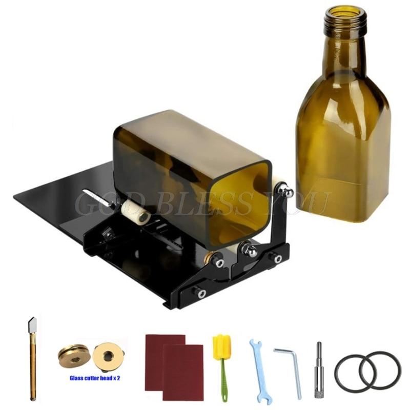 DIY Glass Bottle Cutter Tool Square Round Wine Beer Bottles Cutting Machine Kit Drop Shipping