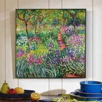 monet garden canvas flowers prints and posters for living room wall unframed home decorative pictures for house decor cuadros