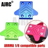 arrma 18 rc car kratonoutcastnotorioustaliontyphonsenton aluminum alloy frontrear chassis armor chassis protection cover