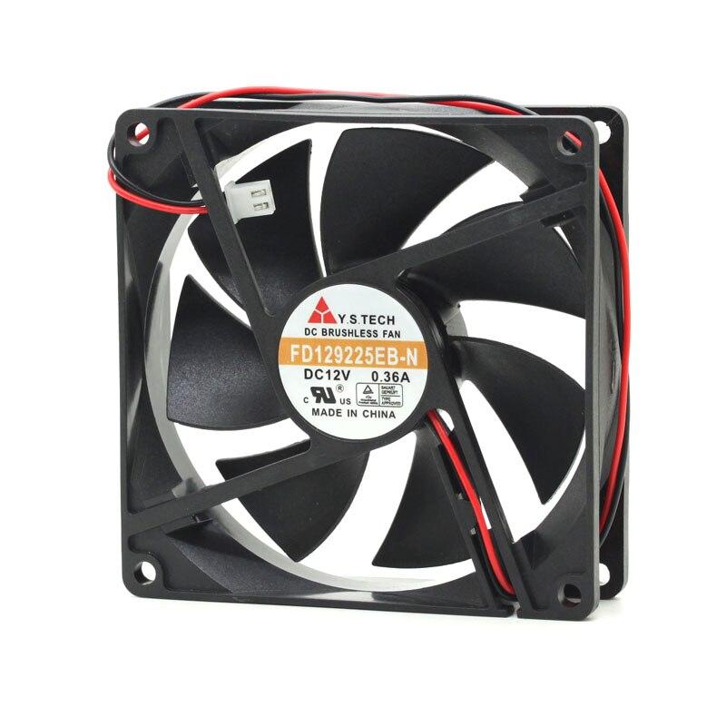 Nueva Y de tecnología 9225 FD129225EB 9025 9CM 12V 0.36A ventilador de refrigeración