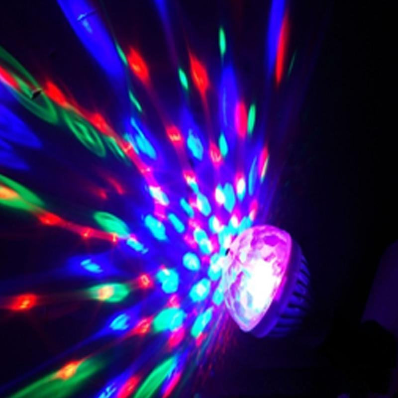 LED E27 AC85-260V Цвет Свет Вращающийся Кристалл Магия Шар Бар Сцена Свет KTV Фестиваль Вечеринка Энергия Экономия Свет Лампа