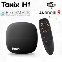 Tanix H1 H2 Android 9.0 TV Box LPDDR4 2GB 16GB Hisilicon Hi3798M V110 V130 WIFI 4K Media Player Google Voice Control Smart TVBox