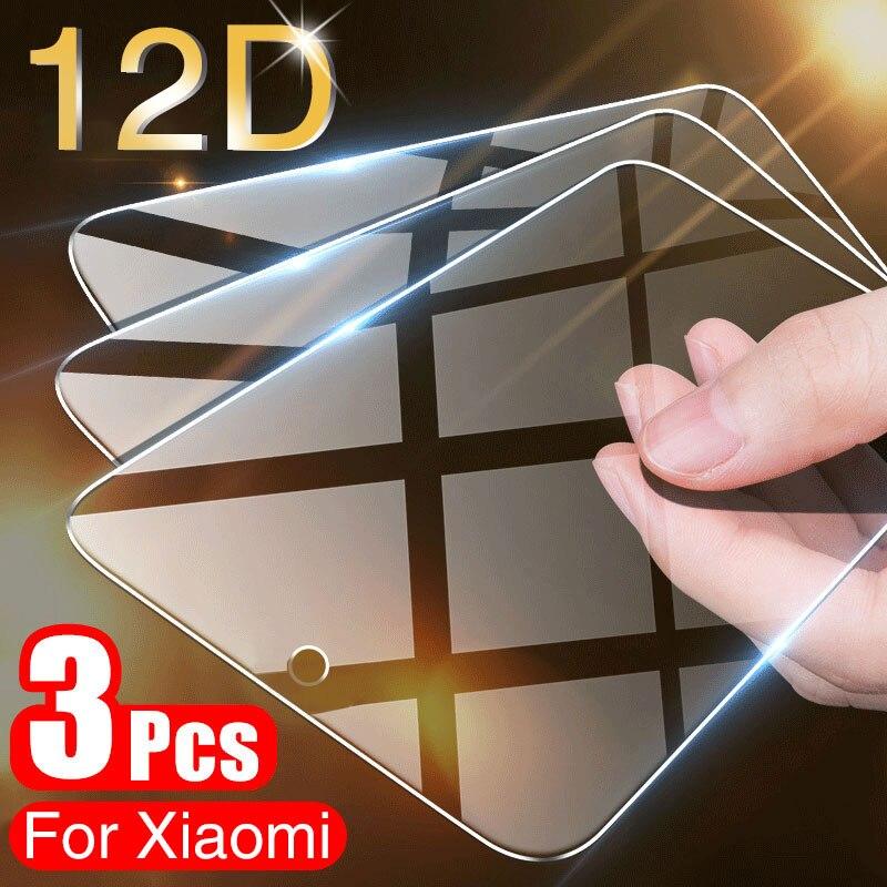 3 قطعة غطاء كامل الزجاج المقسى ل شاومي Mi 9 SE حامي الشاشة ل شاومي Mi 9 9T 8 لايت A3 A2 A1 Pocophone F1 ماكس 3 2 الزجاج