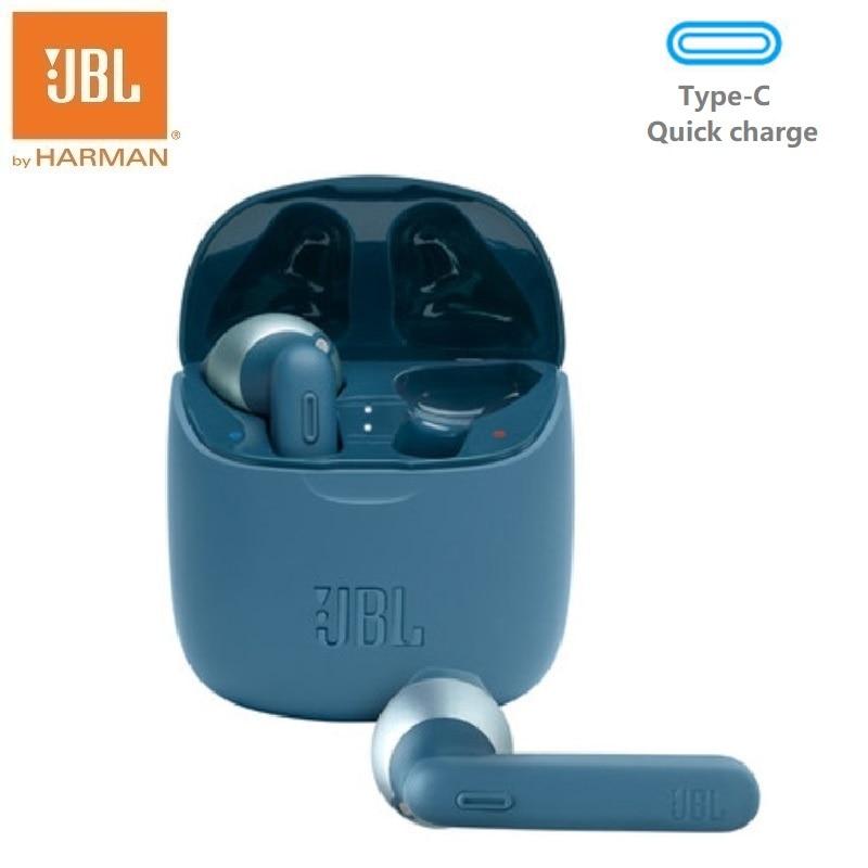 JBL TUNE225 TWS سماعات بلوتوث لاسلكية سماعات أذن داخل الأذن مع ميكروفون Type-C USB شحن سريع 20 ساعة وقت اللعب B