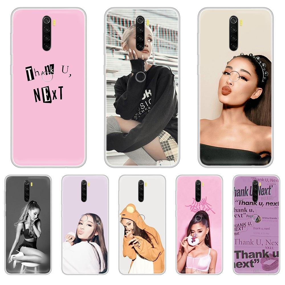 Ariana Grande BackPink moda lindo impermeable transparente funda de teléfono para XIAOMI Redmi Note 3 4 5 6 7 8 9 9s Pro max 8T 4X